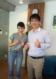 ikumi3が講師のものくろさんとkitchen Beeで記念撮影しました。