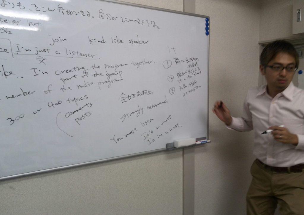 西澤ロイさんの英会話クリニックで、私のスピーチへの板書アドバイス