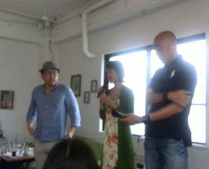 たちさん、彩さん、根本さんの鎌倉セミナー20170729でのお三方。