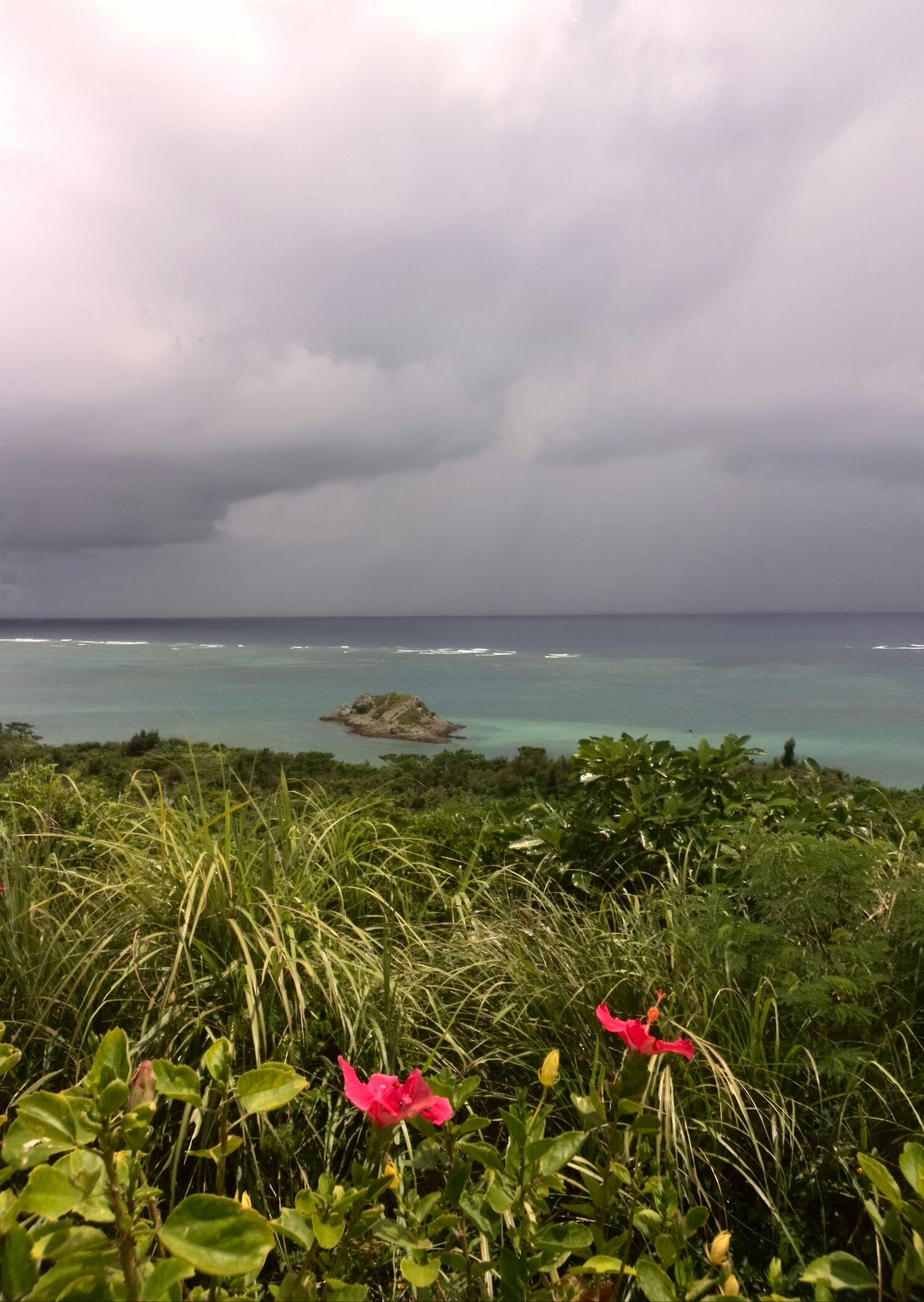 石垣島の展望台からの海