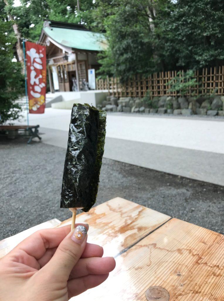 寒川神社の磯部団子