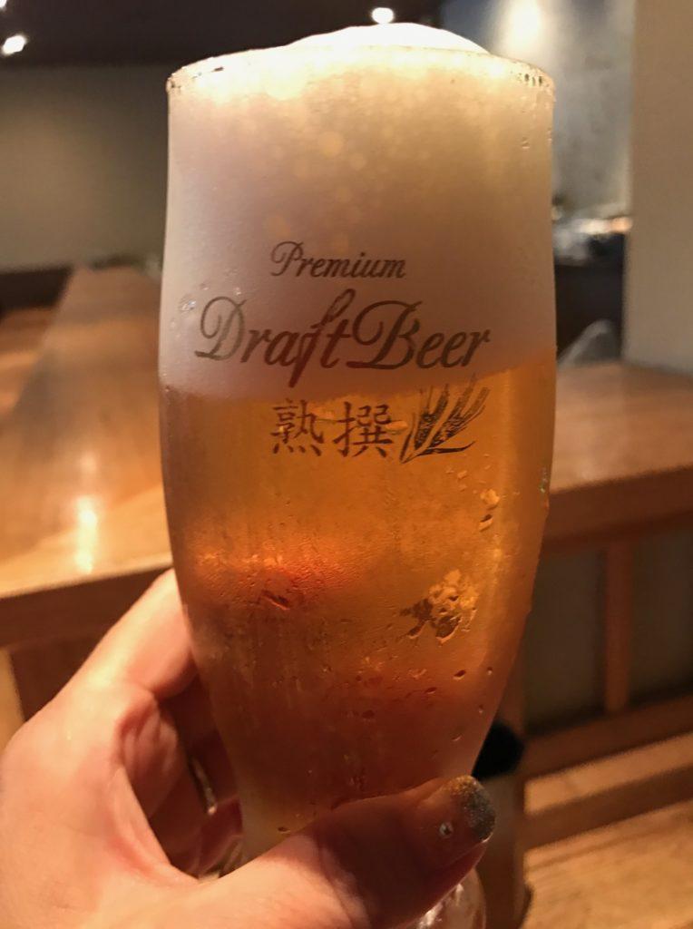 軽井沢「こみやま」でいただく生ビール