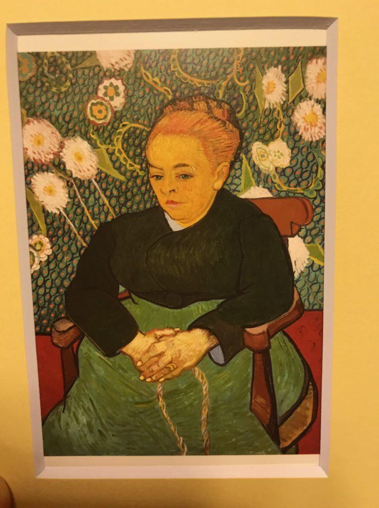 ゴッホ「ムーラン夫人」のポストカードと額縁
