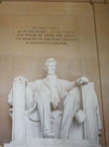 ワシントンD.C.のリンカーン像