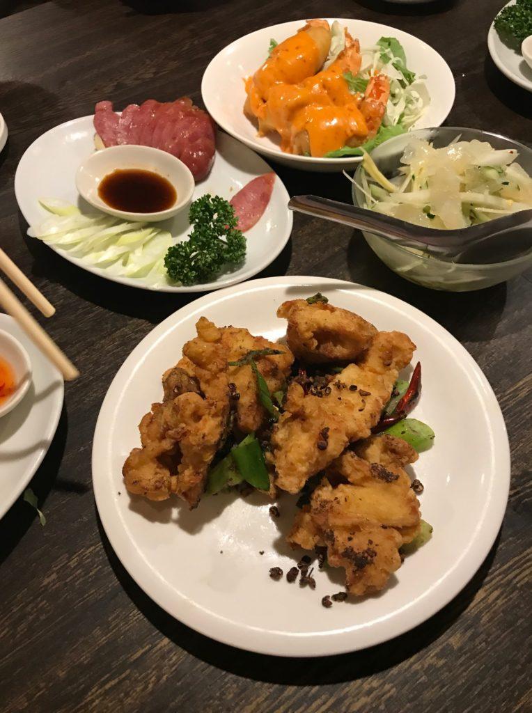 樺沢先生ご招待ディナーでの台湾料理の各皿①
