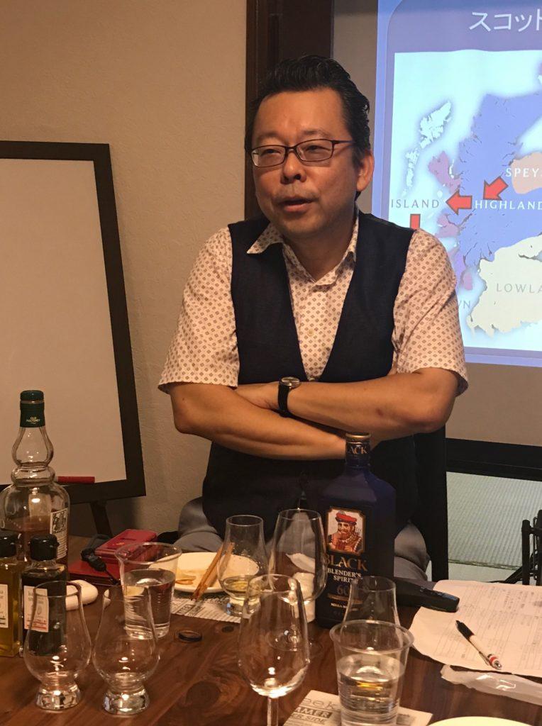 樺沢先生のウイスキーセミナー講義中20170909