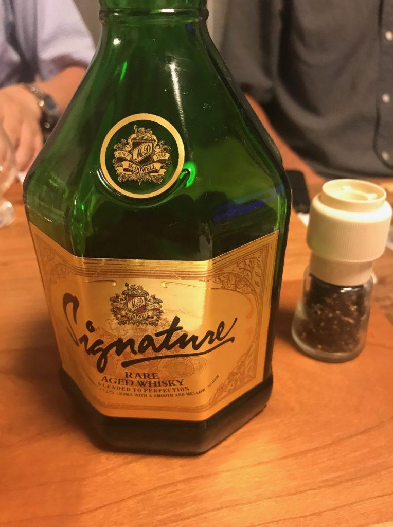 インドのウイスキー、シグニチャー