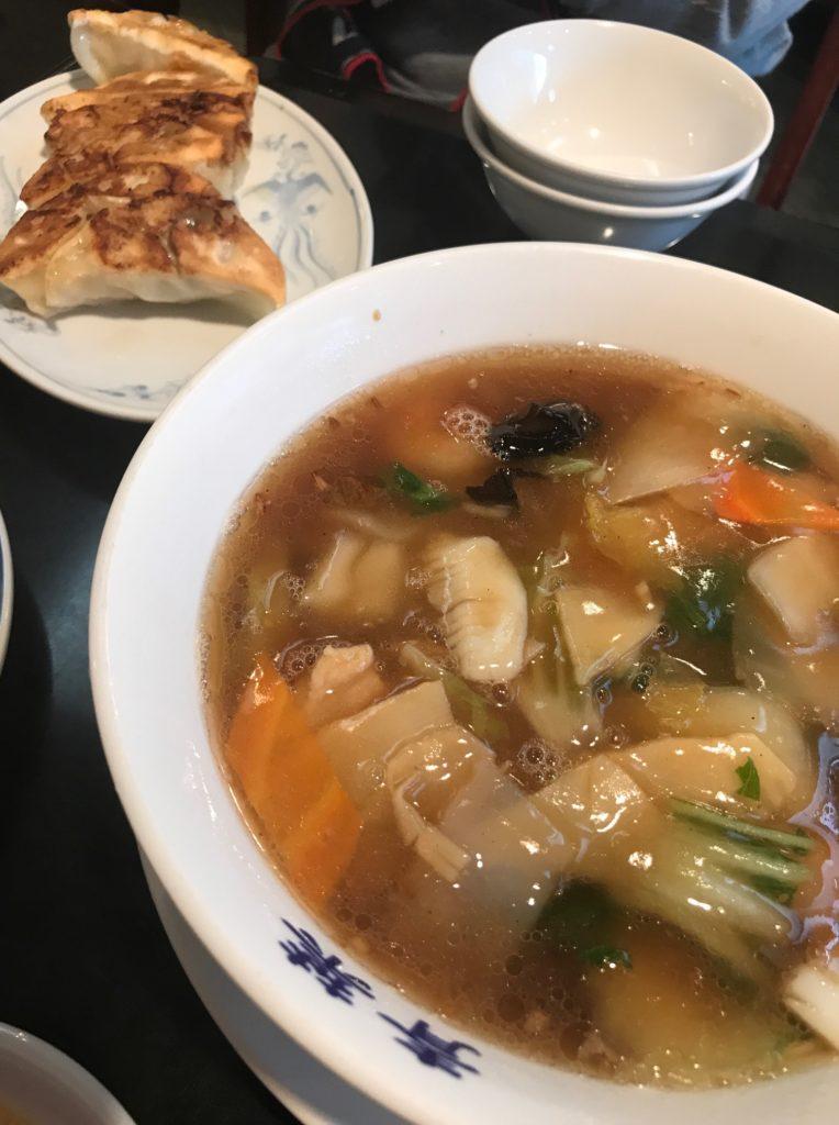 青葉川菜館_五目そばと餃子