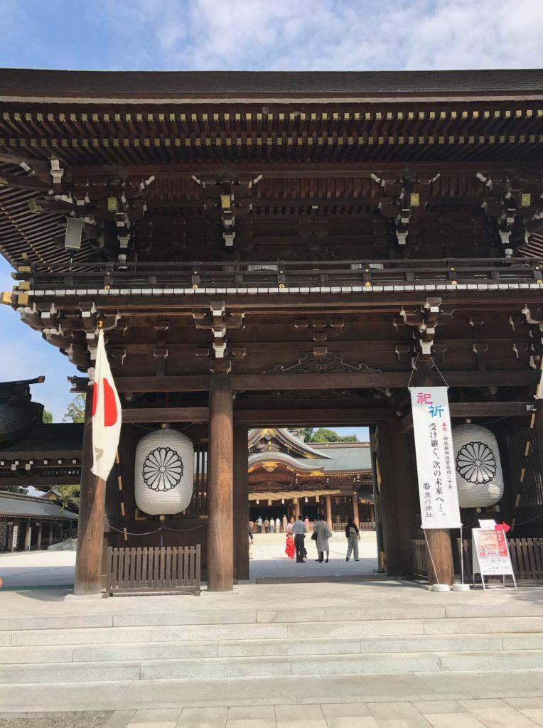 寒川神社、ご神門