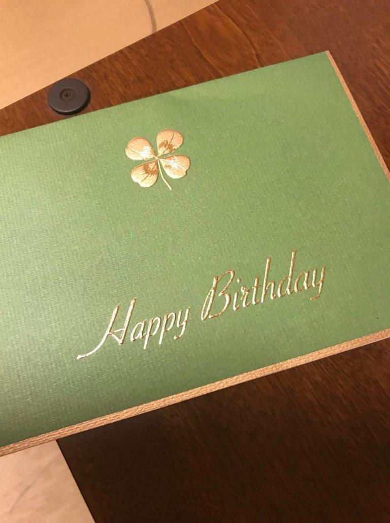 息子の25歳の誕生日に両親が送ってくれたカード